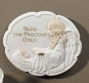 "5"" Guardian Angel Wall Plaque"