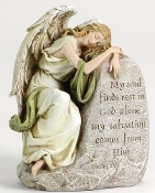 "8"" Sleeping Memorial Angel Figure"