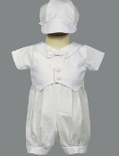 Cotton romper with pique vest-Tyler