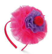 Mudpie Purple/Hot Pink Cupcake Headband