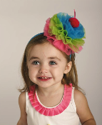 Mudpie Hot Pink/Blue/Green Cupcake Headband,1st birthday outfit,first birthday outfit,outfit for 1st birthdy,outfit for first birthday,1st birthday party outfit,outfit for my daughters 1st birthday,birthday gift,first birthday gift,1st birthday gift