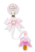 Mudpie Heart Bow Paci Clip