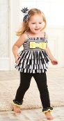 Mudpie Striped Tunic & Legging Set