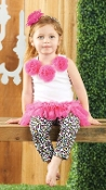 Mudpie Wild Child Skirt/Leopard Legging Set
