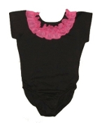 Ruffled Neckline Leotard
