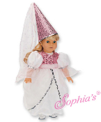 "18"" Doll Princess Gown w/ Hat"