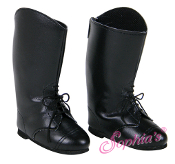 "18"" Doll Tall Classic Black Riding Boot"