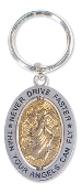 Angelstar Never Drive Faster Keychain
