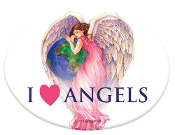 Angelstar I Love Angels Porcelain Magnet