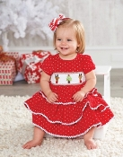 Mudpie Red Corduroy Smocked Christmas Dress