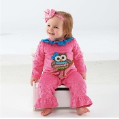 Mudpie Minky Owl One Piece