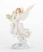 "10.75""H ANGEL WITH CHILD GALLERIA NOVENA"