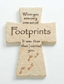"7.25""H FOOTPRINTS WALL CROSS"