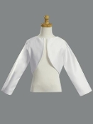 White Satin Long Sleeve Bolero