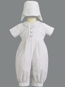 Poly Cotton Romper with Pleats-Liam