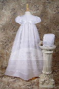 "Girls 31"" Organza Gown w/Knotted Ribbon Bodice"