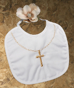 Small Gold Cross Bib