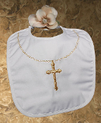 Large Gold Cross Bib