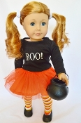 "18"" Doll ""Boo"" Halloween Outfit,doll,american doll"