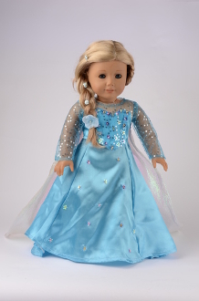 "18"" Doll Elsa Gown w/Cape"