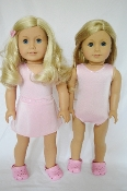 "18"" Doll Pink Swimsuit w/Skirt w/Rhinestones 2pc"