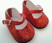 "18"" Doll Red Sparkle Mary Janes"