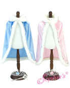 "18"" Doll Pink Fur Cape and Drawstring Purse"