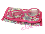 "18"" Doll Flower Print Flap Case/Pink Eyeglasses"