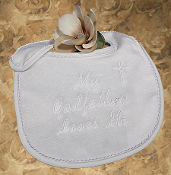 "Terry Velour ""My Godfather Loves Me"" Bib"