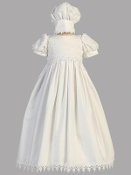 Embroidered cotton gown-Kayla