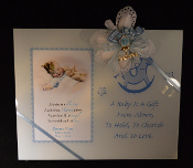 4x6 Blue Baby Frame Personalized Bomboniere