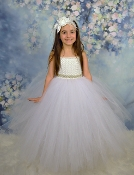 White Deluxe Tulle Gown 5 Layer