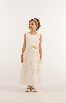All Over Crochet Dress w/Bow,flower girl dress,flower girl dress toronto,flower girl dress oakville,flower giel dress mississauga,flower girl dress brampton, flower girl dress gta,flower girl dress canada,flower girls