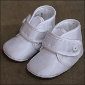 Baby Boys Silk Shoe w/Button