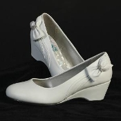 "1"" heel shoes with rhinestone strap"