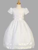 Embroidered Cotton Bodice w/Cotton Skirt.Communion Dress