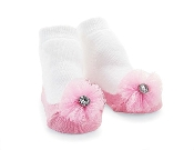 Mudpie Jeweled Flower Socks