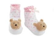 Mudpie Rattle Toe Socks - Bear