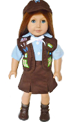 "18"" Doll Brownie Girl Scouts Outfit"