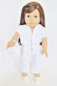 "18"" Doll White Capri Set"