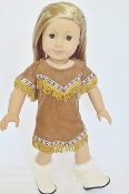 "18"" Doll Native American Dress"