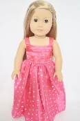 "18"" Doll PInk Sparkle Dress"