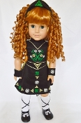 "18"" Doll Irish Dance Outfit with Wig"