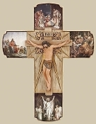 "12"" Life of Christ Wall Cross"