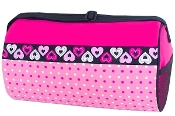 Hearts & Dots Duffel Bag Blank