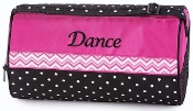Chevron with Polka Dots Dance Duffel
