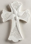 "7"" Lace Confirmation Wall Cross"