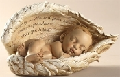 "4.25"" Sleeping Baby in Angel Wings"