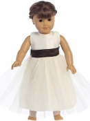 "18"" Ivory Doll Tulle Dress"
