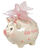 Mudpie Litte Princess Piggy Bank